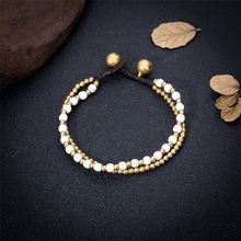 Женские двухслойные браслеты ручной работы браслет с белыми