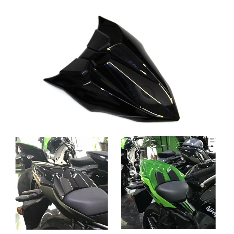Motorcycle Accessoires High Quality ABS Reflective Black REAR SEAT COVER COWL FAIRING For Kawasaki Ninja 650 Z650 Z 6500 2017 for ktm 390 duke motorcycle leather pillon passenger rear seat black color