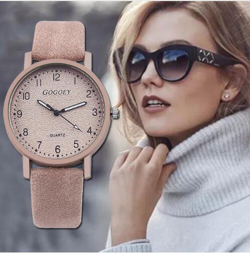 נשים שעונים אופנה מינימליזם צמיד שעון אישה Relogio עור ריינסטון אנלוגי קוורץ שעון נשי שעון Montre Femme