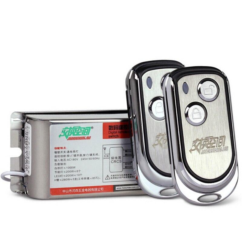 все цены на High Quality One Way Wireless Remote Control Light Switch 220V Small Silver RF Remote Control 315/433mhz Low Price онлайн