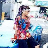 2017 Personality New Women S T Shirt Europe Trend Street Graffiti Clothing Tee Youthful Design