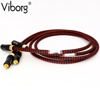 Hi End Audio Cable High End HIFI RCA Audio Cables With WBT Plug Audio Cable