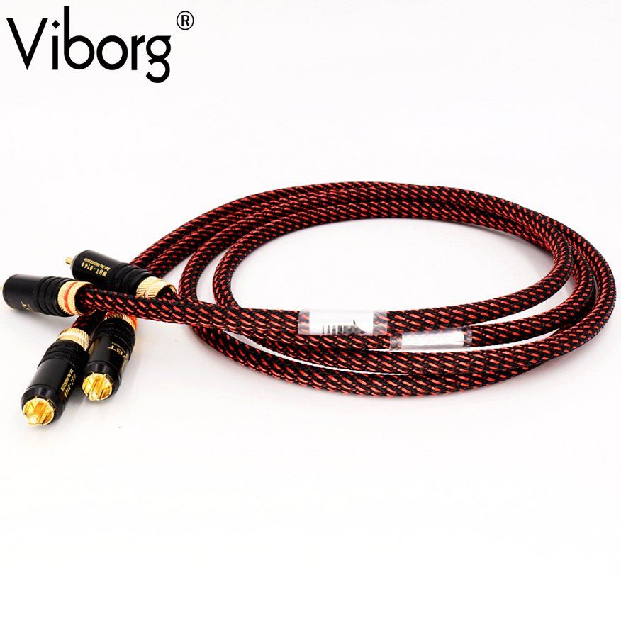 Viborg Audio Cable High End HIFI RCA Audio Cables With WBT Plug Audio Cable