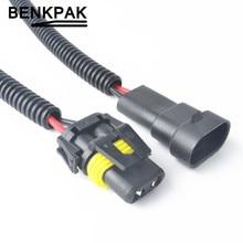 Огнестойкость жгута проводов разъем H8 H9 H11 разъем провода 9005 переходник для автомобиля HID светодиодный светильник противотуманной фары головной светильник