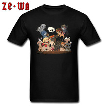 Mens Pokemon Anime Top T-shirts The Binding of Isaac Casual Tees 100% Cotton Crew Neck Ostern Day 2019 Newest Cartoon T Shirts