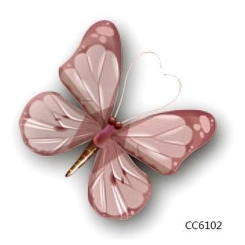 Mini Body Art Waterproof Temporary Tattoos For Girls Women Lovely Butterfly Design Flash Tattoo Sticker Free Shipping CC6102