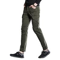 2017 New Fashion Waterproof Tactical Pants Mens Silm Casual Pants Men Trousers Army Green Khaki Military