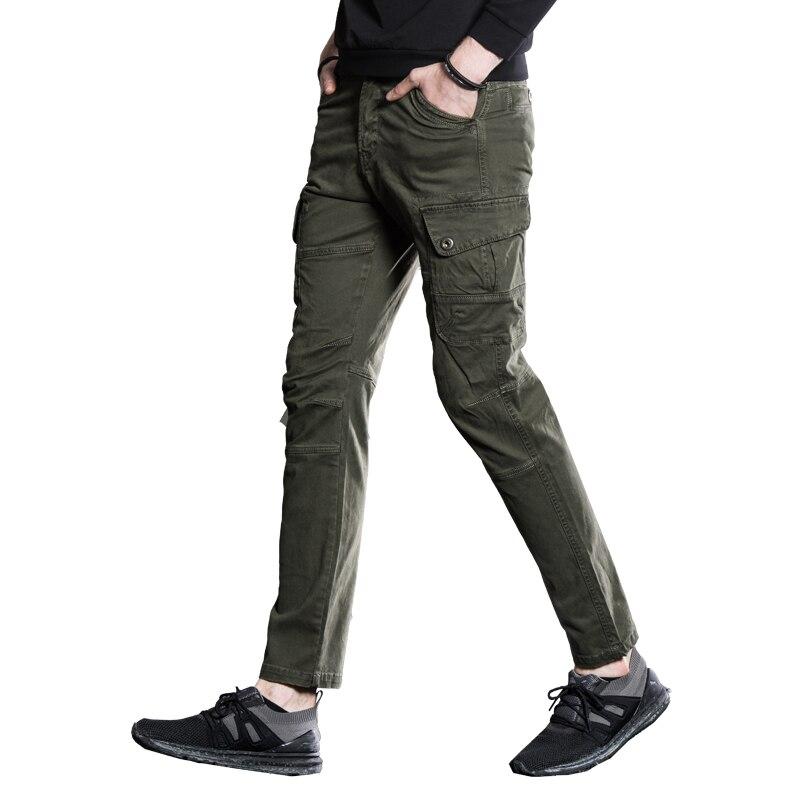 2017 nouvelle mode Étanche Tactique Pantalon Hommes Silm pantalons décontractés Hommes Pantalon vert armée Kaki Militaire pantalon noir pour Hommes 38
