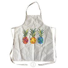 pineapple pattern linen & cotton kitchen cooking apron for couples cleaning aprons
