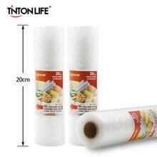 TINTON LIFE 20смx500см/ рулон вакуумного пакета для хранения пищей и продуктов