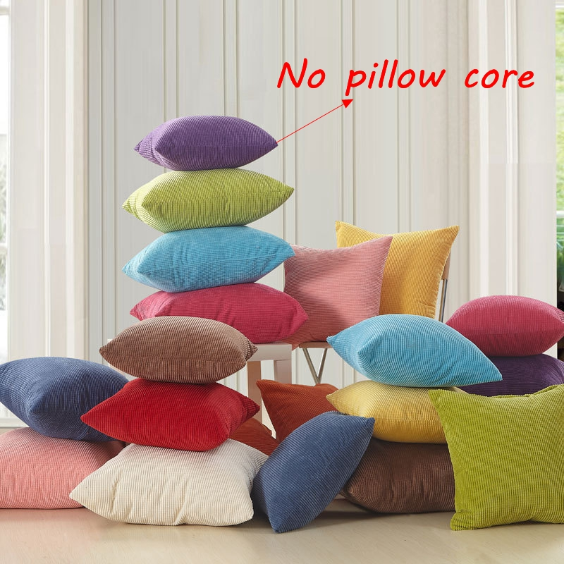 corn corduroy cushion square pillow cover solid color cushion cover 45x45cm 50x50cm 55x55cm pet dog cat bed mat repair cover
