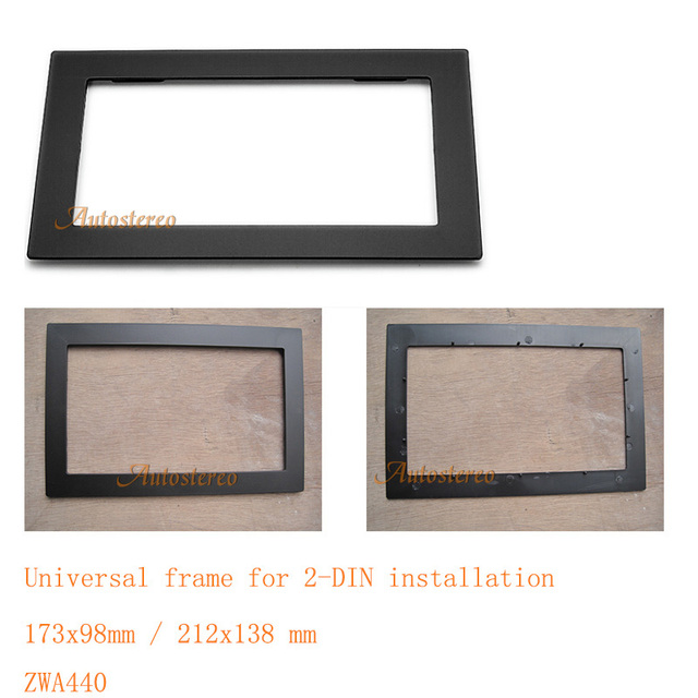 Universal frame for Two DIN installation Car Radio fascia Facia ...