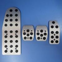 TTCR II Car Accessories For Suzuki Swift 2008 2015 New Sport Aluminium Foot Pedal Rest Plate Speed MT/AT Stickers Covers Pads