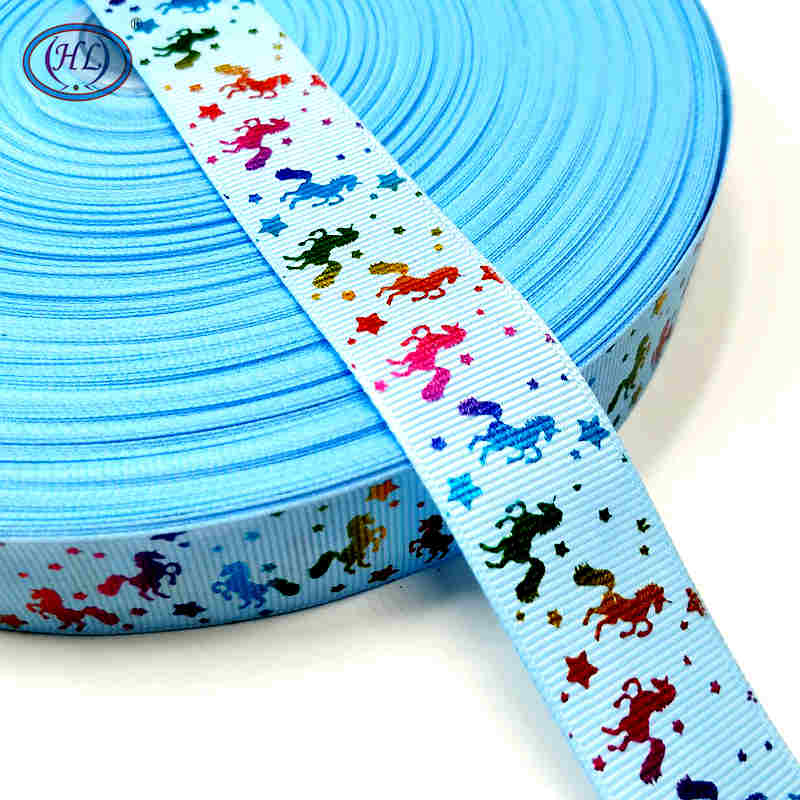 Рождественская лента Hl 5 ярдов 25 мм горячее тиснение корсажные ленты Свадебные украшения Швейное Ремесло «сделай сам» для изготовления бантов для волос - Color: blue
