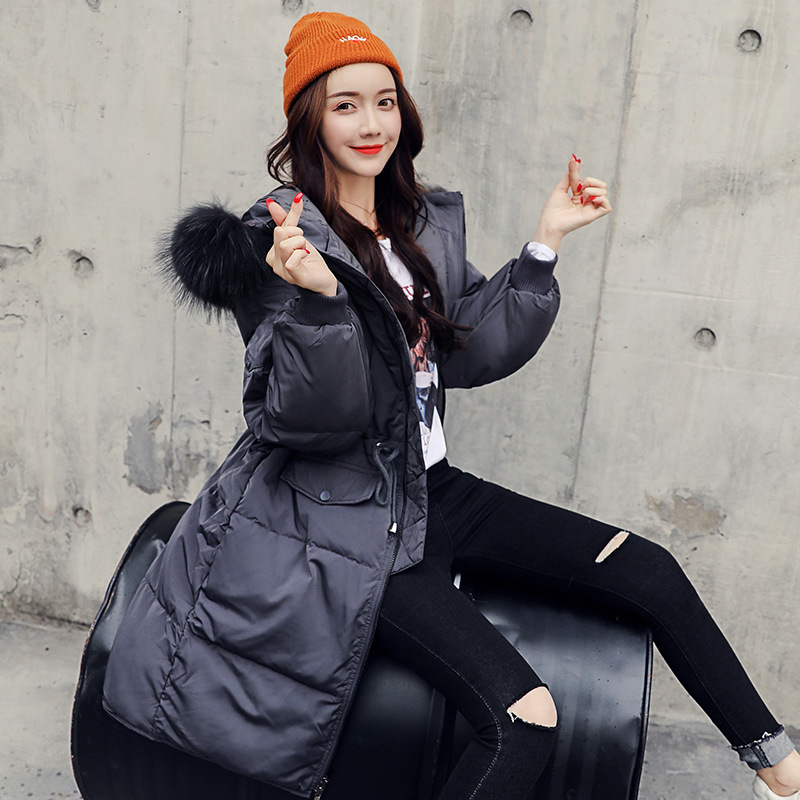 Blanc gray Canard Élément Épais Taille 2018 Manteau Femmes black D'hiver De Vers Nouvelles Section Veste Bas Chaud Vêtements Beige Rivet Omlesa Le Longue Mince Sx35 AdWqSaxAU
