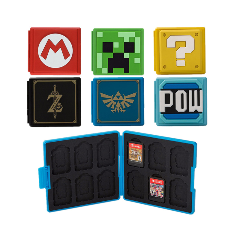 12 Game Cards box Plastic Portable Case For Nintend Switch Shockproof Hard Shell Storage Box For Nintend Switch NS NX Game Card nintend switch joy con