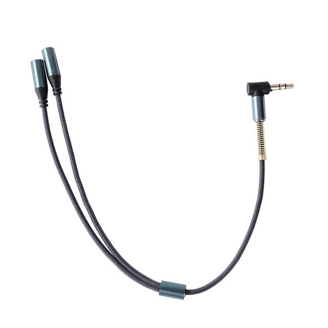 Hot Sale 3.5mm 1 To 2 Dual Y Audio Splitter Cable Adapter Golden Connector for Earphone Headphone #UO