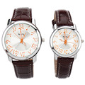 NARY Fashion Couple Watch musical symbols men's Personality High Quality Leather Strap Quartz Watch Female Relogio Clock Gifts