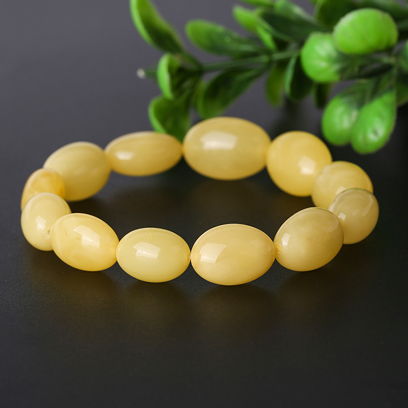 JIUDUO Fashion ladies bracelet yellow bracelet Baltic sea chicken yellow wax amber braceletJIUDUO Fashion ladies bracelet yellow bracelet Baltic sea chicken yellow wax amber bracelet