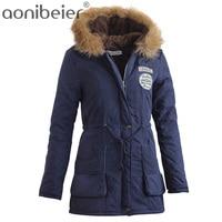 Promotions 2016 Fashion Thicken Warm Winter Fur Collar Coats Jackets For Women Women S Long Parka