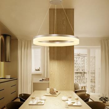 Círculo anillos moderno led colgante luces para comedor salón ...