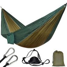 Hamac Parachute, 1 personne, pour une place, pour la chasse en plein air, Hamac de loisirs Portable, pour jardin, cour, Patio