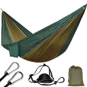 Image 1 - Hamac Parachute, 1 personne, pour une place, pour la chasse en plein air, Hamac de loisirs Portable, pour jardin, cour, Patio