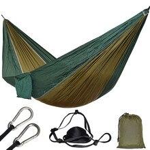 Rede para pátio, paraquedas para caça ao ar livre, sobrevivência, portátil, quintal, pátio, lazer, pendurado, 1 pessoa