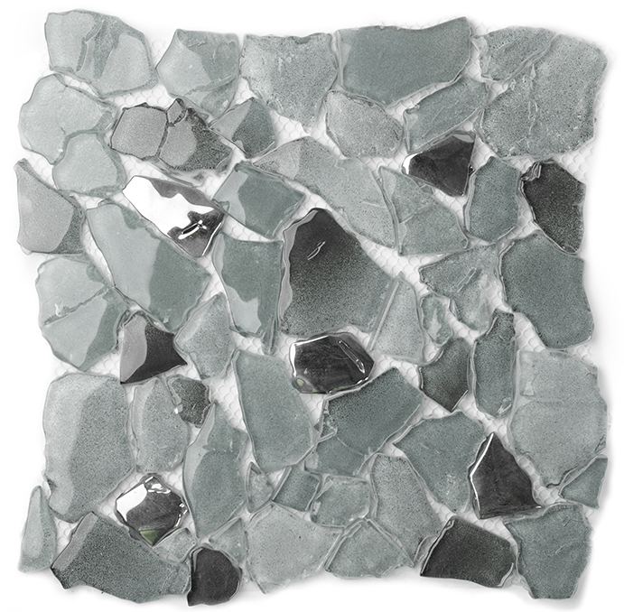 Clear Grey Crystal Glass mosaic tile,Kitchen backsplash,Bathroom floor home decor sticker,Swimming pool outdoor wallpaper,LSWZ03