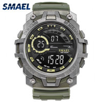 SMAEL Brand Digital Watches LED Backlight Fashion Male Electronic Military Clock Men Watch Big Dial Sports