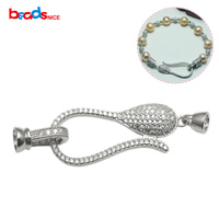 Beadsnice Unique Jewelry Clasp 925 Sterling Silver Micro Pave Cubic Zirconia Necklace Bracelet Hooks DIY Accessories
