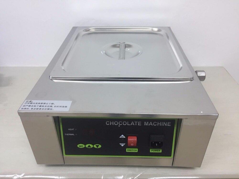 Free shipping 8kg capacity Digital Chocolate Melter machine 1 big tank 1000w 1pcs 1000w 8kg capacity electric chocolate melter chocolate tempering machine