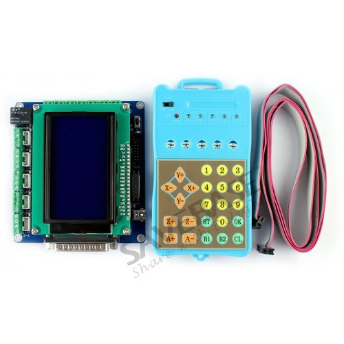 SAVEBASE Upgrade 5 Axis CNC Breakout Board + LCD Display + Handle Controller Gcode Store