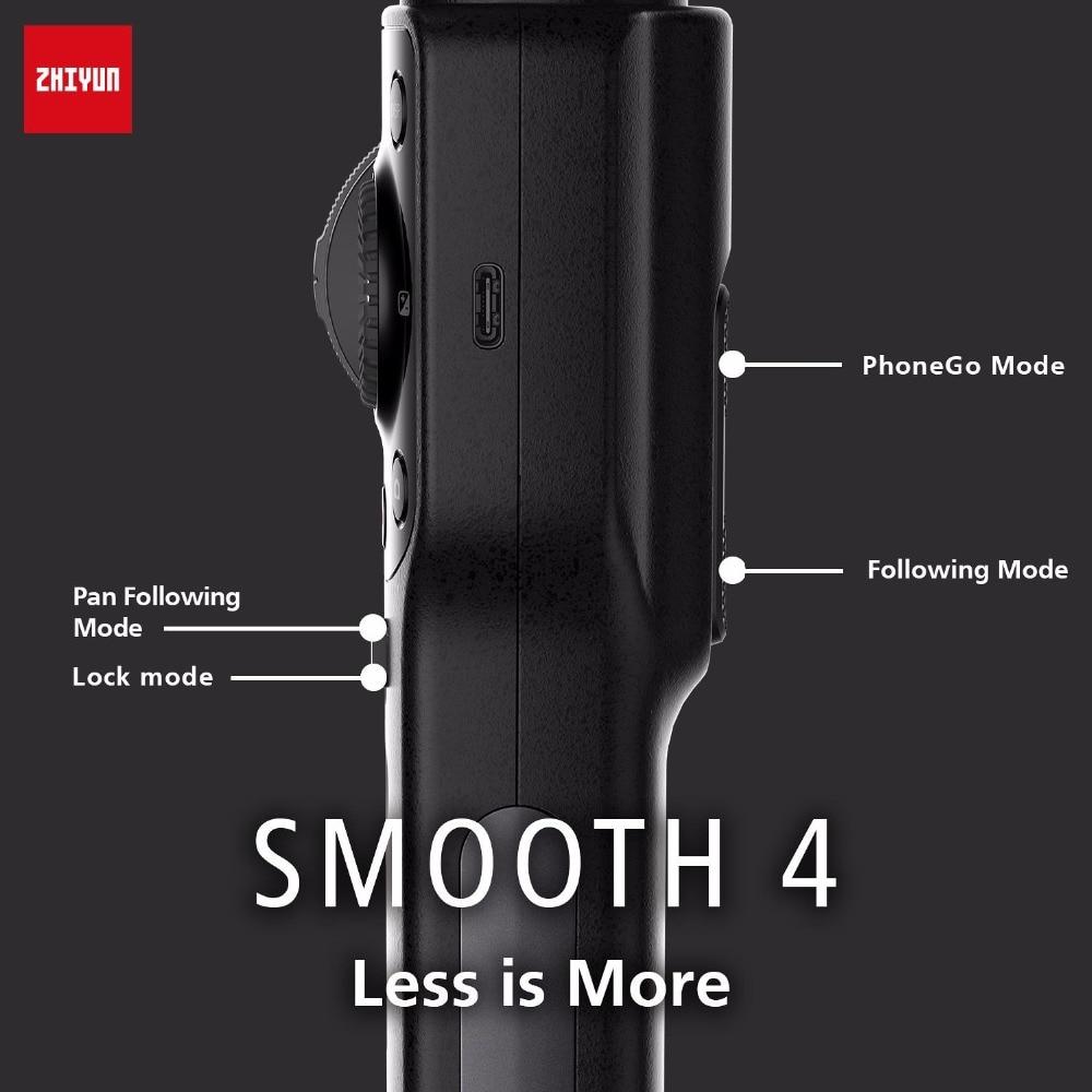 Zhiyun lisse 4 3 axes stabilisateur de cardan de Smartphone de poche VS Zhiyun lisse Q modèle pour iPhone X 8 Plus 8 7 6 S Samsung S9 S8 S7 - 6