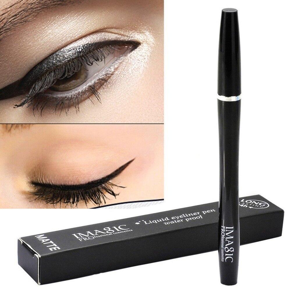 Imagic Tahan Air Kecantikan Kosmetik Eye Liner Pensil Eyeliner Cair Pembersih Opc Drum Hitam Makeup