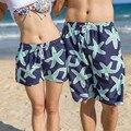 2016 Verão de Cintura Alta de Praia Estrela Do Mar Verde Homens e Mulheres Suor Basculador Casuais Bermuda Shorts Da Carga XXL