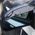 2 unids/lote Univeral Auto Car Rear Mirror Junta Lluvia Ceja Sol Vista Posterior Del Espejo del Lado Rain Shield Coche Flexible de la Cortina parasol junta
