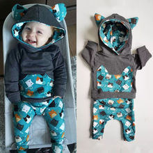 Kids Baby Boy Girl Clothes Long Sleeve Set Outfit