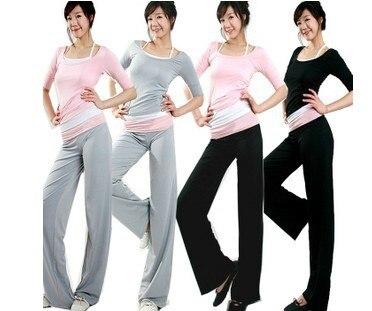 Roupas Suit Three-piece suit T-shirt +Vest + Pants New Korean Version Bat Sleeve Elasticity Big Yards Milk Silk sportswea