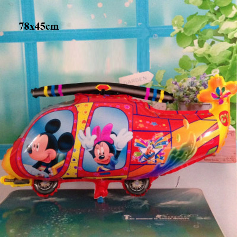 helicopter toys balonlar palloncini Luftballons air balloons foil baby boys girls children kids cartoon party airplane balloons image