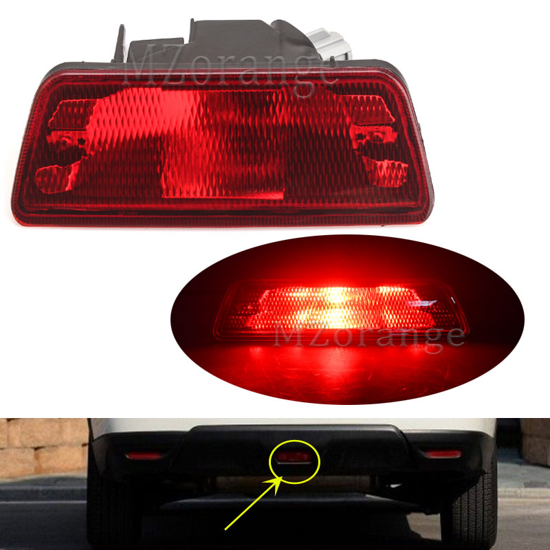 Mzorange Rear Tail Bumper Center Reflector Red Fog font b Lamp b font Light for Nissan