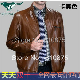 Autumn winter casual plus velvet leather clothing male genuine leather men s clothing motorcycle leather clothing