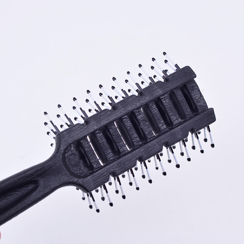 1 Pc Antistatic Black Men Salon Hair Styling Brush Comb Resin Handle Hair Style Tool Promotion Price 4