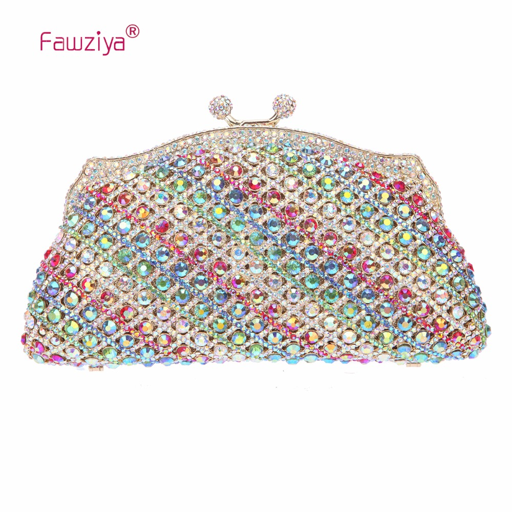 Fawziya Crystal Clutch Evening Bags Kiss Lock Evening Bags For Womens Clutch Purses And Handbags women clutch bag casual clutch purses and handbags evening clutch bags women pu leather handbags ladies hand bags yhb141 142