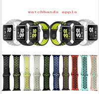 38mm 42mm 10 Color Watchband For NIKE 1 1 Original With Light Flexible Breathable Silicone Watch
