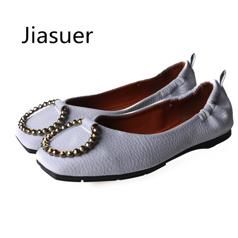 Jiasuer Spring PU fashion women flat shoes Bowknot metal buckle square head for women's shoes Big yards side empty female flats hevxm 2017 spring korean ladies fashion round head flat pu ordinary shoes female students british wind shoes