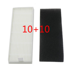 10*HEPA filter+10*Sponge Filters for chuwi ILIFE A4 Robot Vacuum Cleaner ILIFE A4s A6 A4 Cleaning Robot Vacuum Cleaner