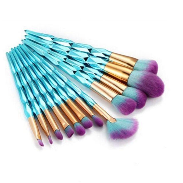 10/12Pcs Professional Diamond Make up Brushes Kit Foundation Concealer Eyeshadow Contour Eye Lip Blush Beauty Makeup Brushes Set Makeup Brushes