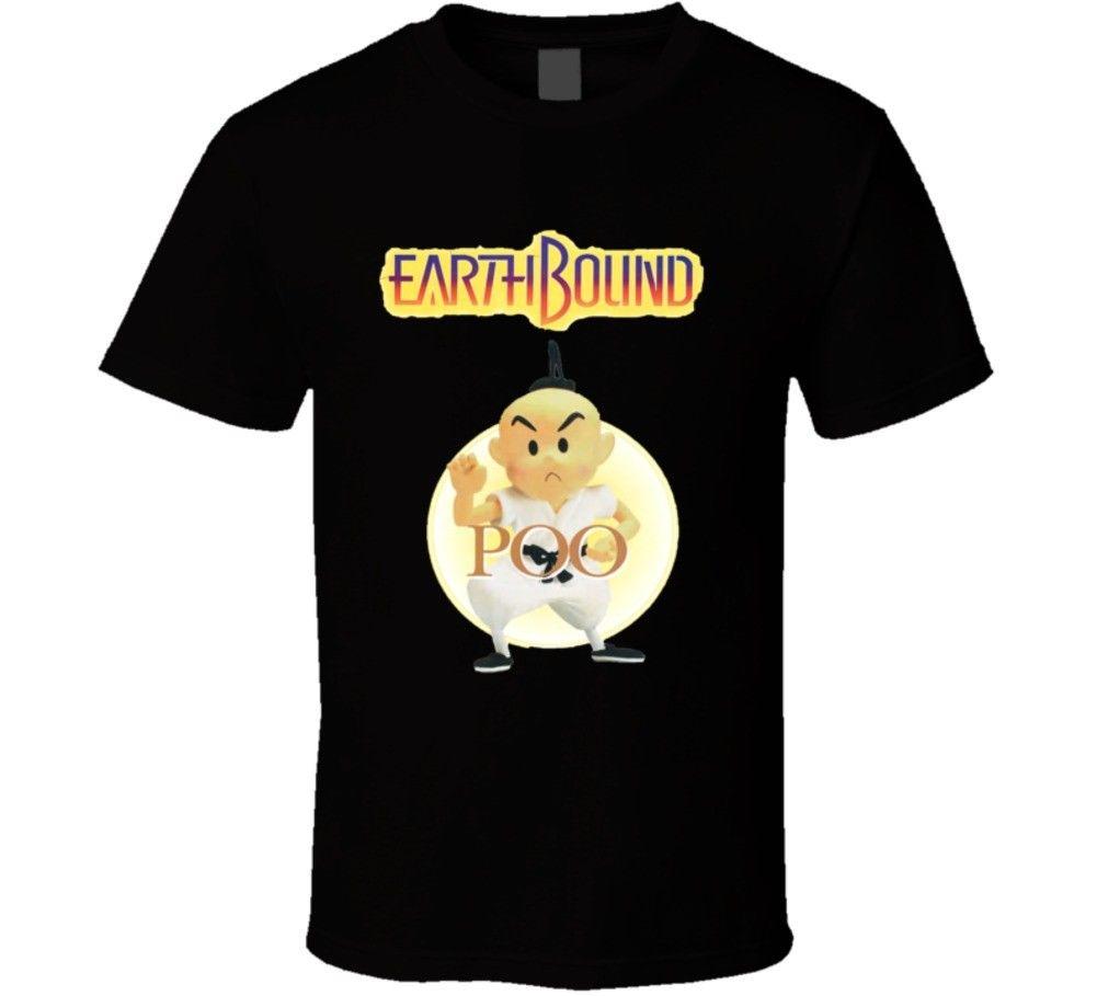 Earthbound Poo Retro Snes Video Game T Shirt Tops Men Tee Shirts top tee