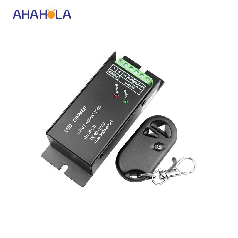 rf wireless led dimmer 220v 110v with remote control,adjustable brightness  dimmer controller input AC90-230v output dc 90-230v